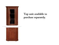 Corner Dresser Cabinet Base Unit - Kent (EKOM 1DSN)