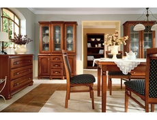 Traditional Solid Wood Dining Table & 4 Chairs Room Furniture Set - Bawaria