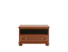 Traditional TV Stand Cabinet Unit with Solid Wood Fronts Chestnut finish - Bawaria