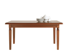 Traditional Extendable Solid Wood Dining Table Polished Walnut Finish - Bawaria