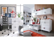 Modern TV Stand Cabinet Unit with Drawer 100cm Media Table White Gloss - Ringo