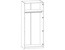 Two Door Wardrobe White High Gloss - Ringo