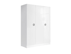 White Gloss Large Wardrobe Three Door Modern  - Ringo (SZF3D/15/21)
