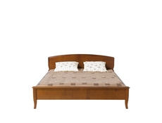 Traditional King Size Bed Frame Cherry Wood Veneer Finish - Orland (LOZ/160)