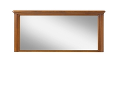 Vintage inspired Rectangular Wall Mirror Cherry Wood Veneer 140cm wide - Orland