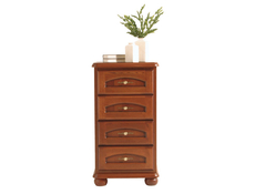 Traditional Tallboy Tall Chest of Drawers Solid Wood Walnut Finish - Bawaria