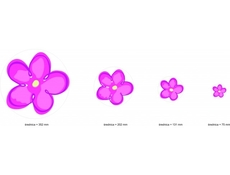 Flower Power Furniture Pink Wall Stickers Childrens Bedroom - Ringo