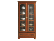 Bawaria - Glass-Fronted Dresser Display Cabinet (DWIT 2D1S)