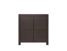 Square Small Cabinet Sideboard in Wenge brown finish - August (KOM4D)