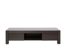 Wide TV Stand Cabinet Unit with Drawers in Wenge brown finish - August
