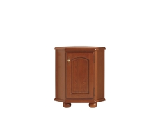 Corner Sideboard Dresser Cabinet Vintage Traditional Solid Wood Chestnut Finish - Bawaria