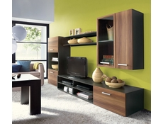 Modern Living Room Furniture Set in dark and light brown wood effect finish - Fargo