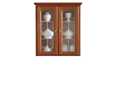 Glass Dresser Display Cabinet Top Unit - Bawaria (DNAD 2W)