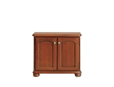 Small Traditional Sideboard Dresser Cabinet 2 Door Unit Solid Wood Chestnut Finish - Bawaria