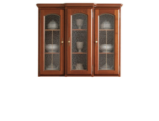 Bawaria - Glass-Fronted Dresser Display Cabinet Top Unit (DNAD 3W/113)