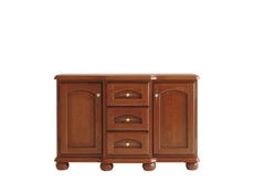 Vintage Inspired Large Traditional Solid Wood Sideboard Dresser Cabinet Chestnut Finish - Bawaria (S11-DKOM2d3s/135-KA/OW)