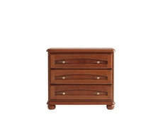 Traditional Chest of Drawers Classic Dresser Polished Walnut Finish - Bawaria (S11-DKOM3s-KA/OW)