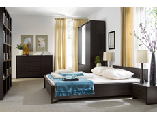 King Size Bedroom Furniture Set Wenge or Oak finish - Kaspian (KASPIAN KNG BED SET)